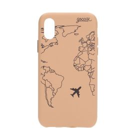 Royal Rose World Map Lines Case - iPhone X/Xs