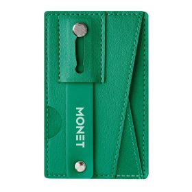Mobile Grip with a Wallet & a Kickstand - Forest Green