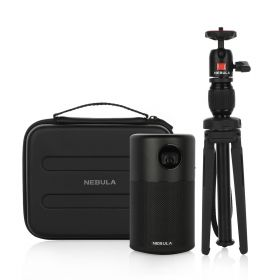 Capsule Projector With Travel Case - Black