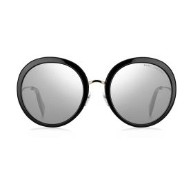 Round Silver & Black Sunglasses