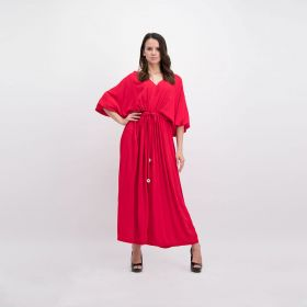 Crepe Jumpsuit - Light Red