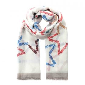 Pattern Print Cashmere Shawl - Off-white