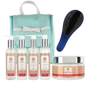 Hammam Sharki Travel Kit Cleopatra Line plus the Bag & Hair Brush