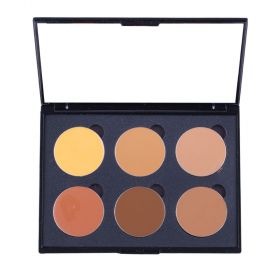Love Me Cosmetic Cream Colour Corrector Palette 6 Well - Medium Deep