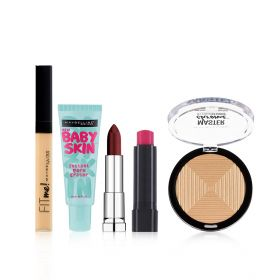 White Maybelline New York Makeup Set - 5Pcs