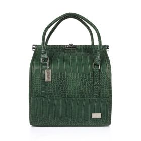 Crocodile Make Up Bag - Dark Green
