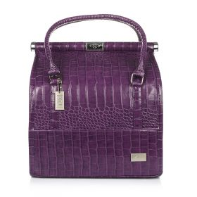 Crocodile Make Up Bag - Violet
