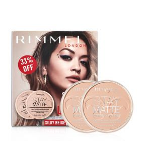 Stay Matte Pressed Powder- Silky Beige