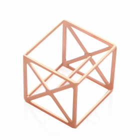 Cube Shaped Sponge Holder - Rose Gold