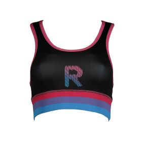 Sports Bra With Print - Black