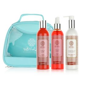Hammam Sharki Green Bag (Sun Care Gel Argon 250ml,Spray Argan Oil 250ml,After Sun Lotion  Argan Oil 250ml)