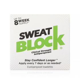 Sweat Block Antiperspirant Wipe - 8 Pcs