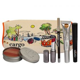 Cargo Mother's Day Makeup Set (Lipstick - Mascara - Eye Pencil - Blush - Concealer + Foundation all in one )