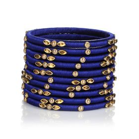 Decorated Bangles - Blue