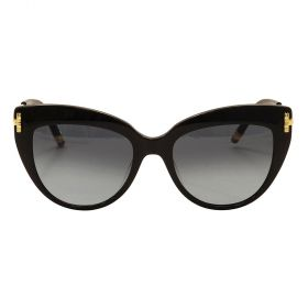 Boucheron - Cateye Black & Grey Gradient Sunglasses