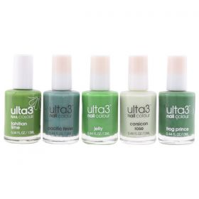 Ulta3 Nail Polish Collection ( Tahitian Lime + Pacific Fever + Jelly + Corsican Rose + Frog Prince ) - N 03