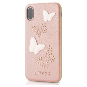 Guess - PU Leather Hard Case Rose Gold - iPhone X