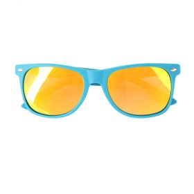Koot Rubber Flexi Polarized Light Blue and Gold Sunglasses - Kids