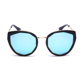Prive Revaux  - The Artist Cat-eye Blue Mirror & Black/Gold Sunglasses