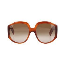 Gucci - Round Brown Gradient & Havana Sunglasses