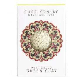 The Konjac Sponge - Mini Sponge Green Clay Gift Box - Body Sponge