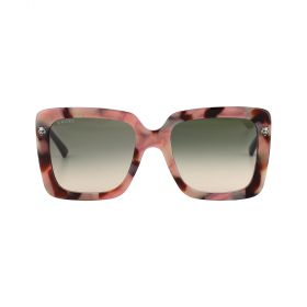 Gucci - Rectangular Green Gradient & Havana Sunglasses