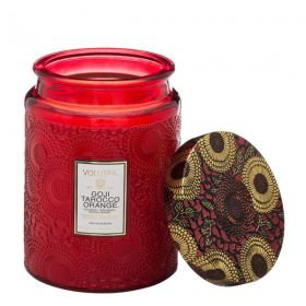 Voluspa Goji Tarocco Orange' Large Embossed Jar Candle