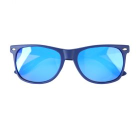Koot Rubber Flexi Polarized Navy and Silver Sunglasses - Kids