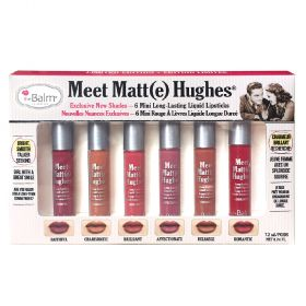 The Balm Meet Matte Hughes Long-Lasting Liquid Lipstick Mini Kit 6 pcs - N 02