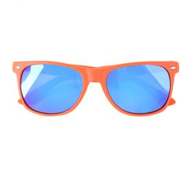 Koot Rubber Flexi Polarized Matte Orange and Silver Sunglasses - Kids