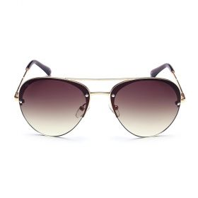 Prive Revaux  - The Warrior Aviator Brown Gradient & Gold Sunglasses