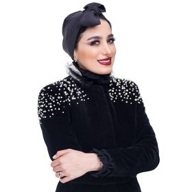 Turban Hijab by Athari Al Snafi - Black Color