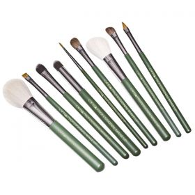Ofra Makeup Brushes Set  - 9Piece (Green Handles)