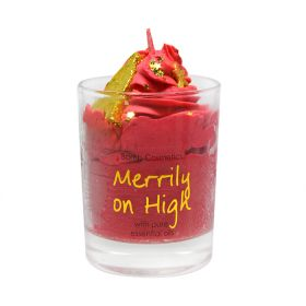 Bomb Cosmetics Merrily On High Piped Candle