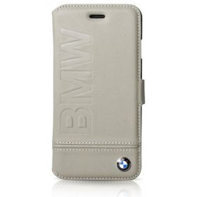 Book Type Case with Imprint Logo for iPhone 7 Plus - Taupe