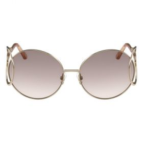 Chloe Sunglasses gold and gradient grey Sunglasses