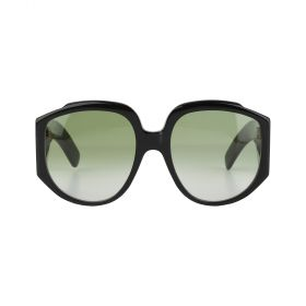 Gucci - Round Green Gradient & Black Sunglasses
