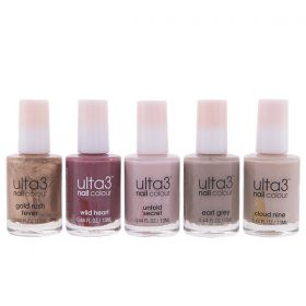 Ulta3 Nail Polish Collection ( Untold Secret + Earl Grey + Cloud Nine + Wild Heart + Gold Rush Fever )