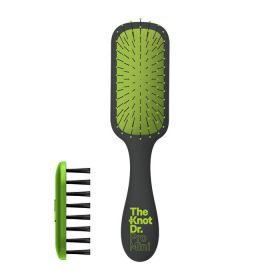 The Knot Dr Pro Mini Hair Brush With Kleen - Green