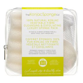 The Konjac Sponge - Natural Luxury Travel Duo Set