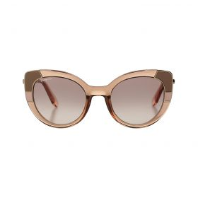 Salvatore Ferragamo - Color Block Butterfly Light Grey & Gold Sunglasses