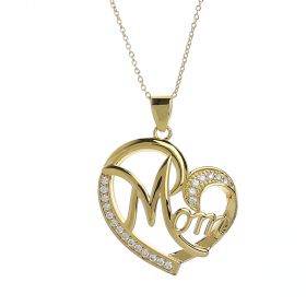 Venus - Gold Plated Necklace with a Mom Pendant