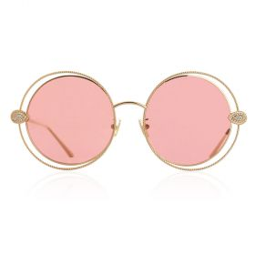 Boucheron - Round Gold Red Sunglasses