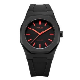 Neon Watch Black with Red Index- Unisex
