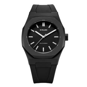Premium Watch Black With Silver Bezel