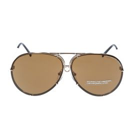 Aviator Brown & Light Gold Sunglasses