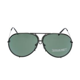 Aviator Green & Matte Grey Sunglasses