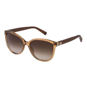 Escada Crystal Brown and Gradient Brown Sunglass