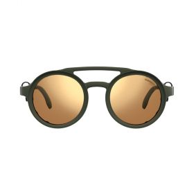 Round Gold & Matte Military Green Sunglasses