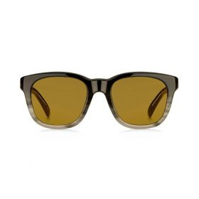 Square Yellow & Havana to Grey Sunglasses